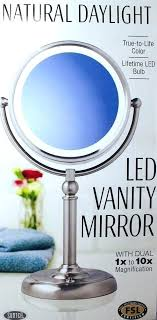 daylight makeup mirror new natural led vanity w dual to magnification fancii 10x magnifying ma