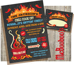 chili supper flyer chili cook off invitations on a chalkboard background