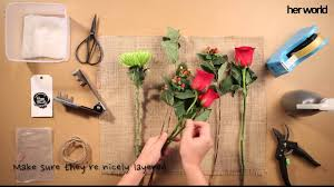 how to diy flower bouquet
