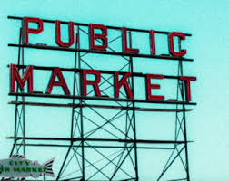 Small Picture Fish market sign Etsy