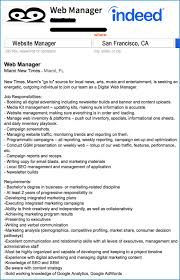 Music Manager Job Description The New Silicon Valley Website Manager Job Description