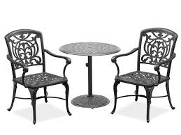 Charming Black Outdoor Bistro Set Furniture Black Wrought Iron