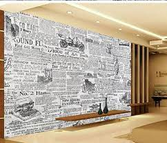 3d wallpaper for room Retro black and ...