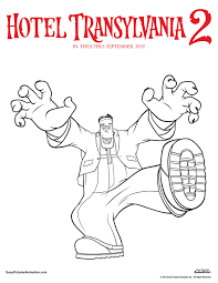 coloring sheet detail description unearth your inner artist with these hotel transylvania 2