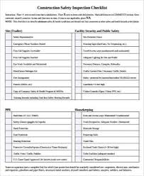 Sample Construction Safety Forms 9 Free Documents In Word Pdf