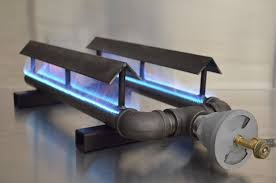 straight pipe burner dual pipe burners with grease shields