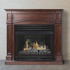 pleasant hearth dual fuel vent free gas fireplace for adorable vent free gas fireplace