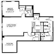 master bedroom with bathroom floor plans. Floor Plan K Is A Two-bedroom, Two-bath Floor With 1,256 Square Feet  Of Living Space. This Apartment Features Large Master Suite Private Bath, Bedroom Bathroom Plans