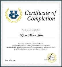 Certificate Of Completion Training Amazing