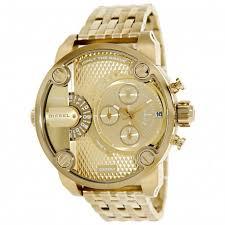 dz7287 diesel big daddy gold watch 60mm 0 dieseldz7287 mens watch little daddy gold