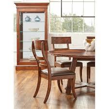 dark brown round dining table aspen