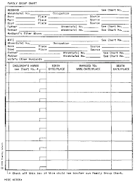 Family Group Record Template Genealogy Forms Word
