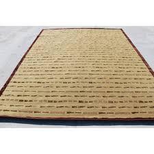 r9162 gorgeous wool silk handmade tibetan area rug 8 x 10 made in nepal