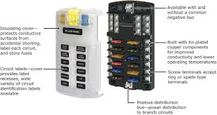 boat distribution panel wiring diagram st screw terminal blade fuse block features and applications st screw terminal blade fuse block features boat building standards basic electricity wiring