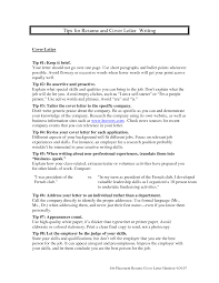 Brilliant Ideas Of Cover Letter And Resume Writing Tips For Your