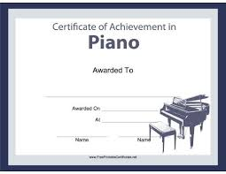 Piano Certificate Template Free Printable Piano Recital
