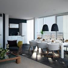 dining table interior design kitchen:  dining room interior design ideas kitchen dining room white round shape side chairs minimalist dining