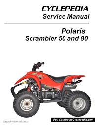 polaris 50cc 90cc scrambler atv print service manual by cyclepedia 2004 Polaris Sportsman 400 Wiring Diagram at Polaris 50 Atv Wiring Diagrams Online