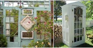 20 wonderful ideas to decorate your garden with an old door