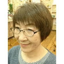 シニアショートグラデーションボブ 美人冠ビジンカンのヘア