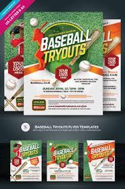 Baseball Brochure Template Baseball Tryouts Flyer Corporate Identity Template