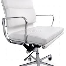 eames inspired office chair. EA219 Eames Style Office Chair High Back Soft Pad White Leather - Replica Inspired L