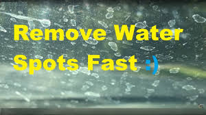 remove calcium water spots on glass permanently