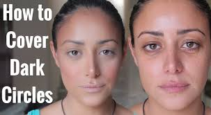 how to cover dark circles on olive skin