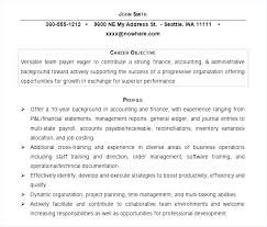 Objective Accounting Resumes Career Objective On Resume Wikirian Com