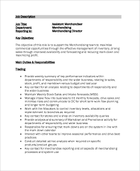 Sample Merchandiser Job Description 10 Examples In Word Pdf