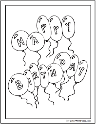 Kids birthday cake coloring pages. 55 Birthday Coloring Pages Printable And Customizable