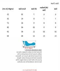 Indian Shoes Size Conversion Digibless