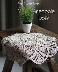 Pineapple Doily Free Crochet Pattern Crochet Crochet