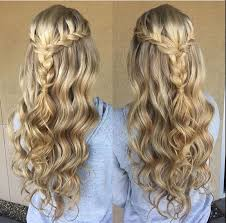 Fashion Hairstyle Half Up Half Down Curly Interesting Women