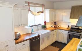 um size of kitchen white island and cabinets wooden countertop tile in sink toaster dishwasher