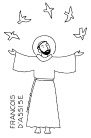 St Francis Of Assisi Colouring Pages St Of Coloring Pages For