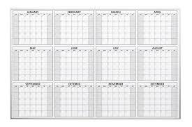 magnetic 12 month dry erase calendar