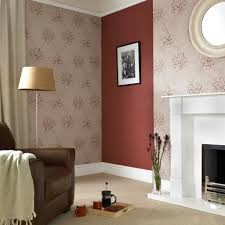 Red Wallpaper Designs For Living Room Bloom Beige And Red Wallpaper Grahambrownau