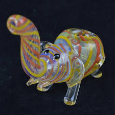new desingn glass pipes 5 inch elephant oil burner glass pipes colorful strips smoke pipes animals shape cigarette pipes from china