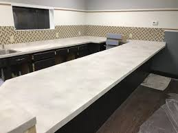 white stained concrete countertops