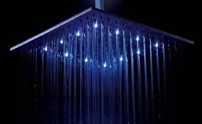 bathroom shower head bathroom colour changing led light rain shower head