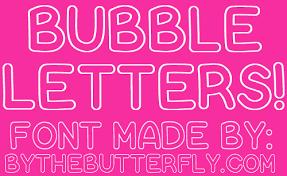 Bubble Letters Font Bubble Letters Font Dafont Com