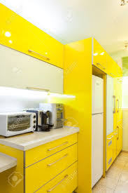 Yellow Kitchen Floor Green And Yellow Kitchen Decor With Turquoise Cabinet And Wooden