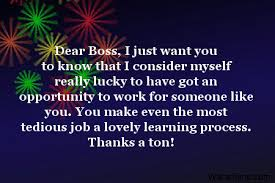 Thank You Message To Boss Thank You Notes For Boss
