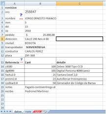 Formatos De Remision En Excel Acepeople Co