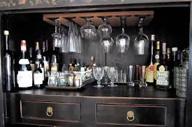 Alcohol Cabinet Chinese Cabinet To Liquor Cabinet Before After