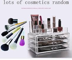 transpa makeup box acrylic cosmetics organizer desktop clear box storage case make up drawer cosmetic storage in storage bo bins from home garden