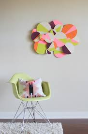 on diy dimensional wall art with how to make diy colorful 3d geometric wall art curbly