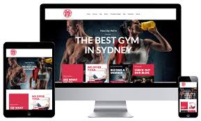 gym website design website design for gyms personal trainers responsive web design