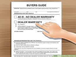vehicle bill of sale as is how to write a bill of sale with pictures wikihow